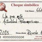 [Galería] Los mejores cheques simbólicos girados hoy http://t.co/VtG3sh6AL4 http://t.co/z8iqi5wz8K