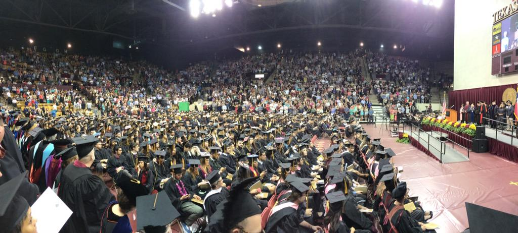 Look at all those #graduates! Makes you proud to #beabobcat. Congrats to the class of 2015! #txst #txst15 #bobcats http://t.co/B7XnqqukCt