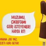 RT @AlgidaTurkiye: Banana Joe'dan tweet çağrısı! Banana Joe geri dönsün diyorsan, #BenimSeçimim ile paylaş, efsane geri dönsün!