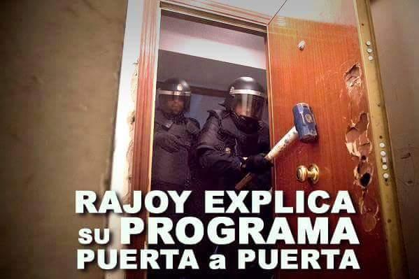 El programa electoral del @PPopular explicado en una sola imagen. #StopDesahucios #NoLesAbras http://t.co/4py7i1a77m