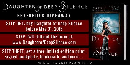 Giveaway for DAUGHTER OF DEEP SILENCE! Buy the book by 5/31, fill out the form, get free stuff http://t.co/O8oeirV5WC http://t.co/2sOapRDprE