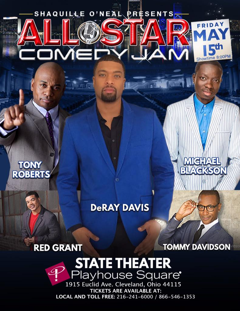 #Cleveland we just touched down! #StateTheater tonight @DeRayDavis @MichaelBlackson @TonyTRoberts @redgrantlaughs http://t.co/Xdhotrz3bW