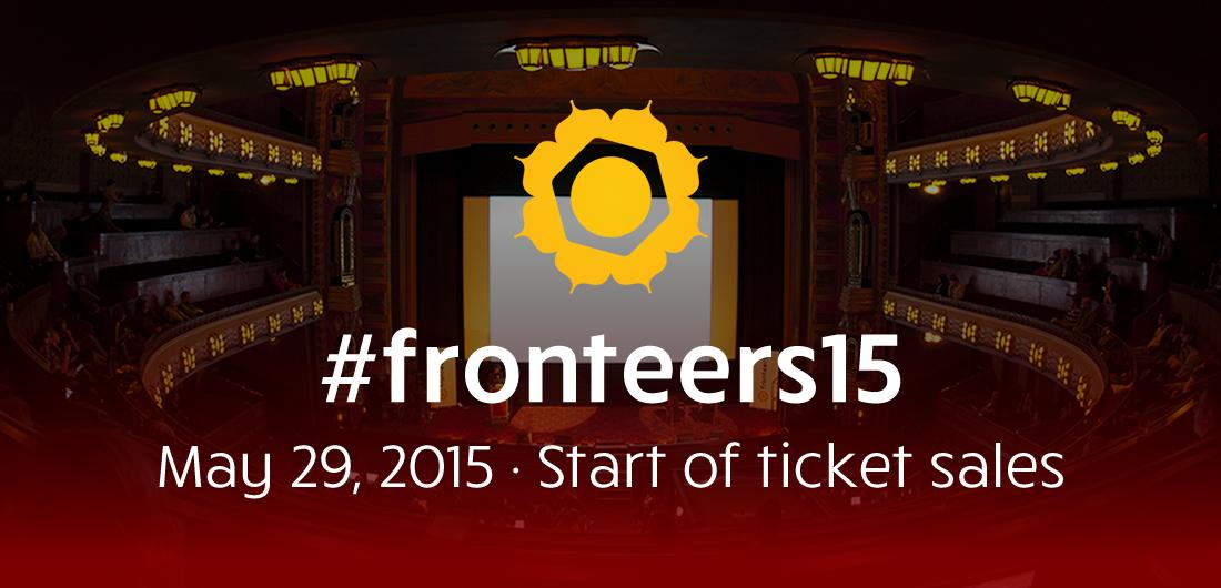 Ticket sales for #fronteers15: affordable, batched, and set to start in two weeks: May 29th! https://t.co/sQhLMZSEzV http://t.co/yVHjBVWKEs