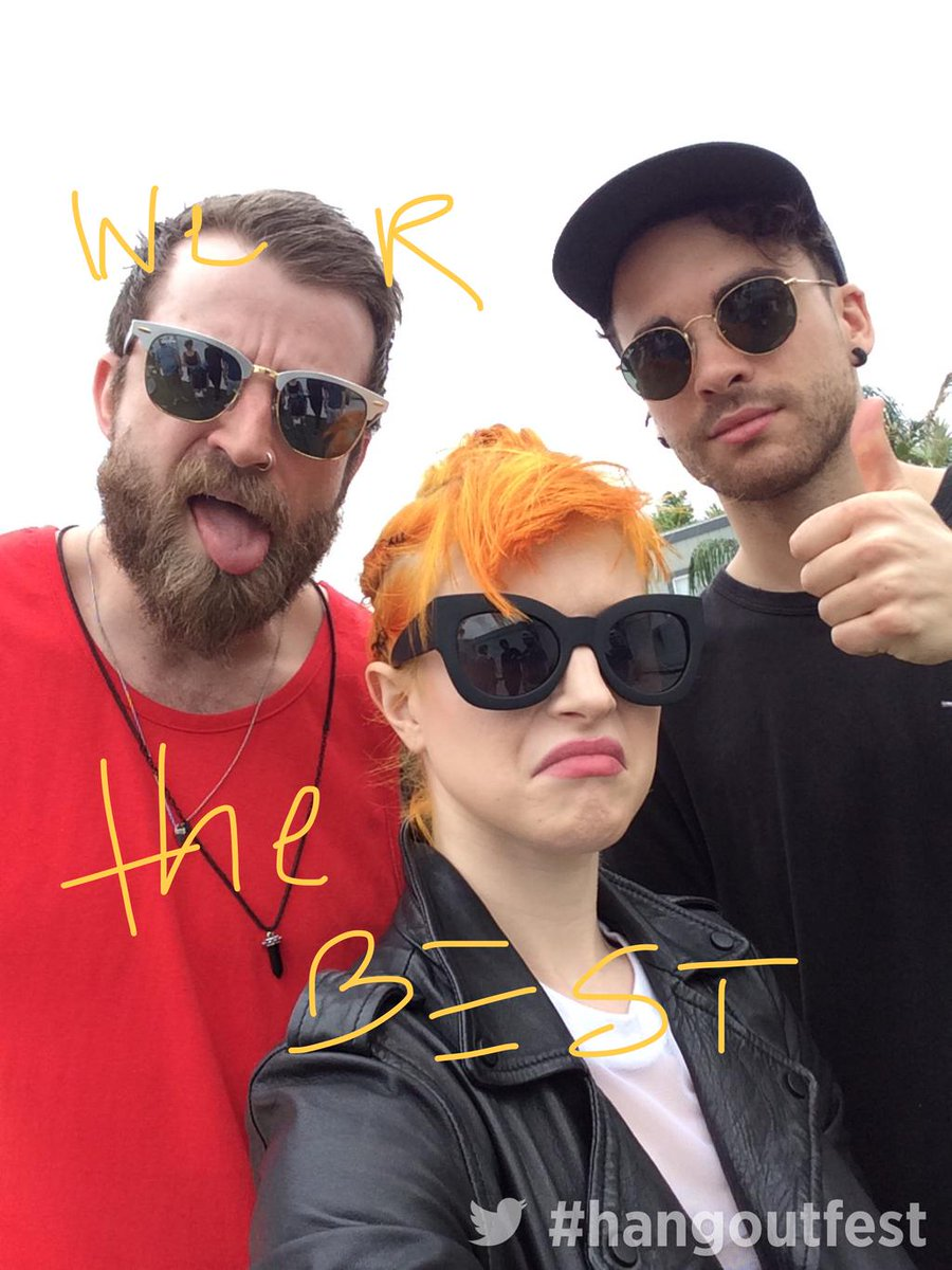 Having fun with @paramore at #hangoutfest http://t.co/DC9drEpRWF