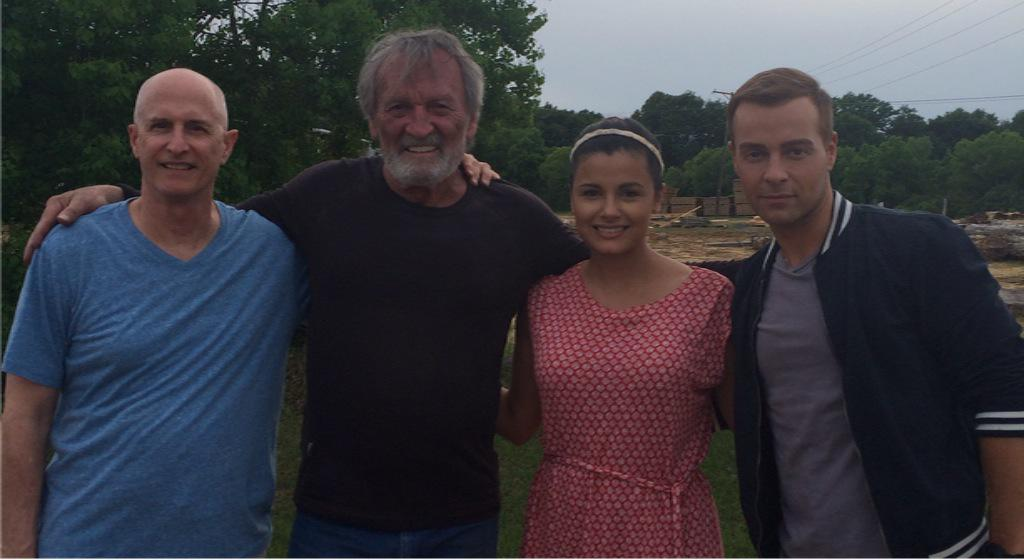 So wonderful to be shooting #TheBridgeFilm with director @JohnnyRemo1 & actors @MuseWatson @joeylawrence http://t.co/rikmI5NEWZ