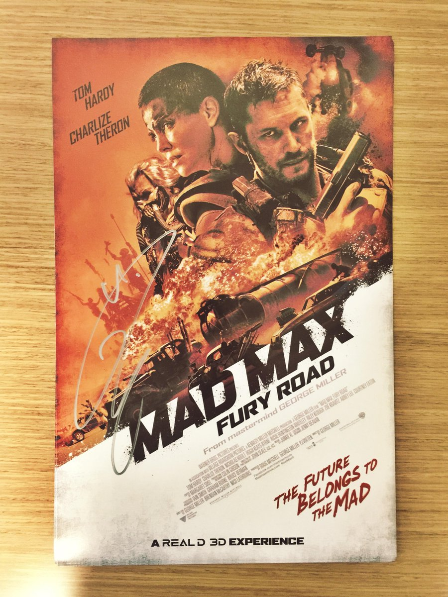 At 300 RT's we'll giveaway this retro inspired #MadMax Mini-Poster signed by #TomHardy. http://t.co/3b0fUhwg5V