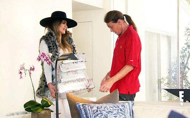 Watch @KhloeKardashian give Bruce Jenner a gift for 'Her' and get a little teary: