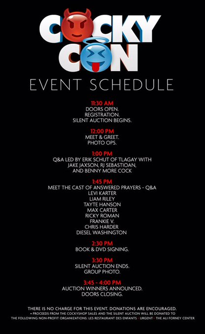 1 pic. Hi YALL! We are still planning more activities - for now here is the #CockyCON schedule!  HARD