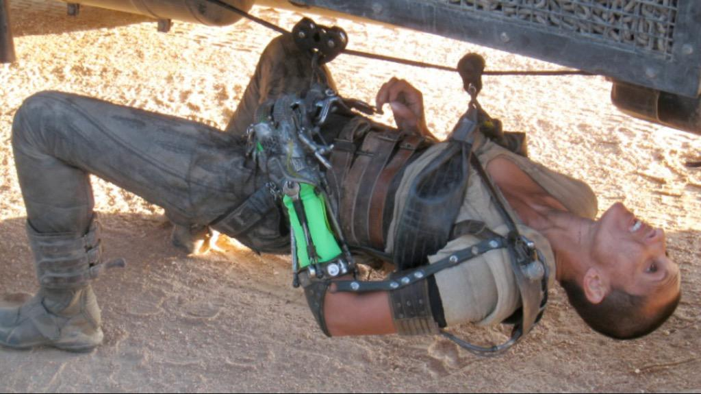 Getting ready to go out on the move under the war rig #MadMaxFuryRoad #Furiosa http://t.co/cjg7ux3BMs