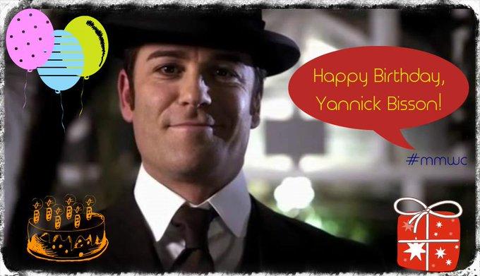 yannick bisson s birthday celebration happybday to