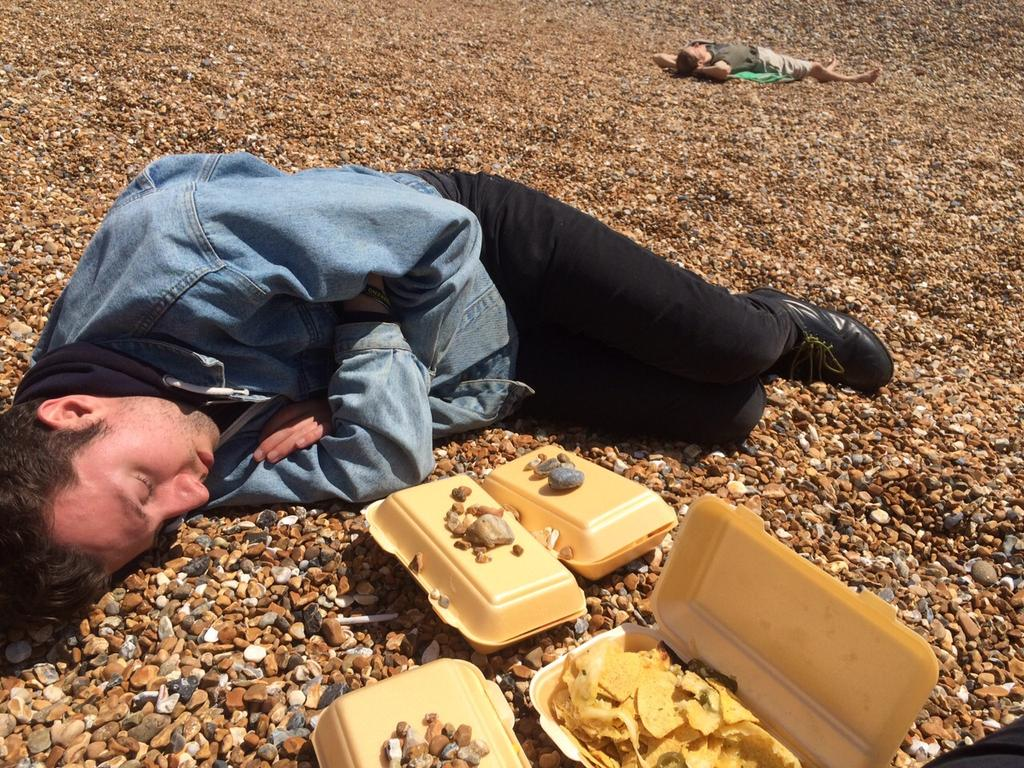 Can we see how many RTs we can get of Luke from Infectious unconscious on the beach please? OK thanks. #tge15 http://t.co/530Bky1oAc