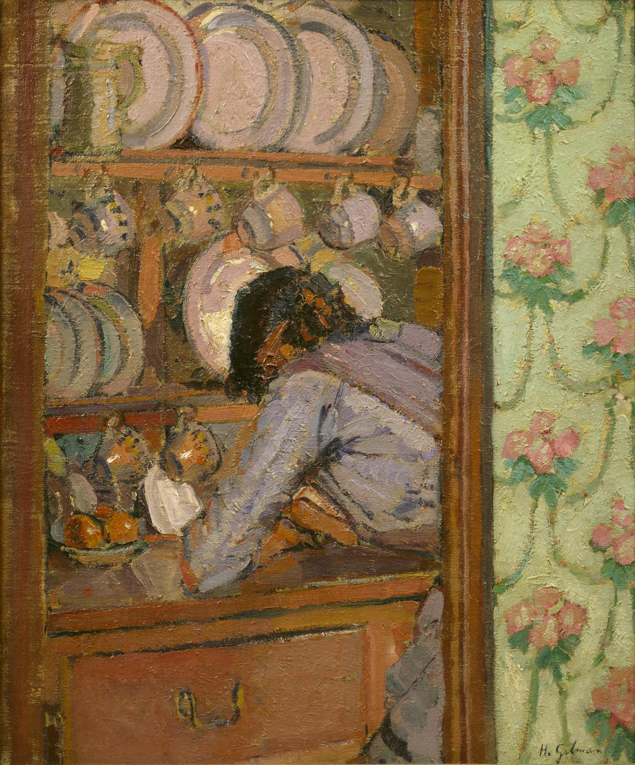 Same artist as 'In Sickert's House at Neuville', this is 'Shopping List' by Harold Gilman 1912 #CamdenTownGroup http://t.co/QPBlQeNJtq