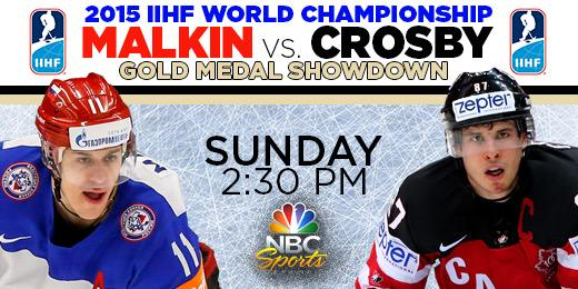 Tomorrow afternoon for just the 3rd time ever, @penguins stars Sidney Crosby & @malkin71_ will go head to head http://t.co/lbUAijuFCw