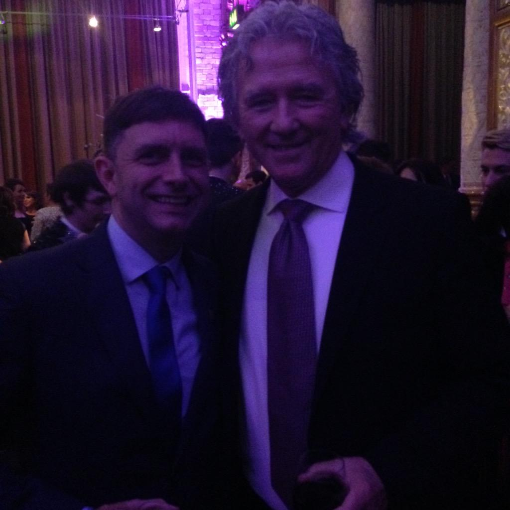 It's me a huge Dallas fan with Patrick Duffy at #BritishSoapAwards @UltimateDallas http://t.co/C9H4deZoLx