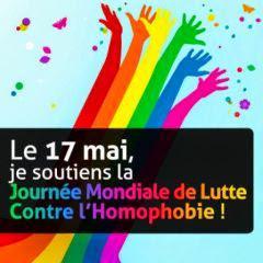 Aujourd'hui comme tous les jours luttons contre l'homophobie. http://t.co/9cEZslY8D1