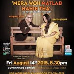 RT @actorprepares: From India to Singapore to USA! #Merawohmatlabnahitha will travel all the way to the US soon. Hope to see you there http…