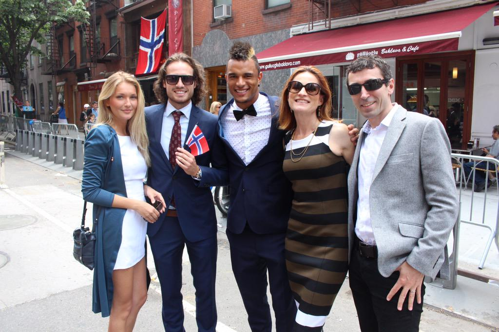 Norwegian outstanding soccer player @MixDiskerud bringing his friends from @NYCFC celebrating 17th of May! Hipp hipp! http://t.co/izMNLjGMhj