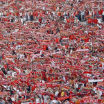Benfica supporters today in Guimarães, the title game. Go BENFICA http://t.co/CoYPpsNmqp