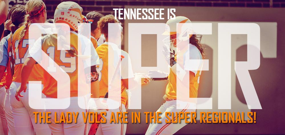 SUPERS-BOUND!! TENNESSEE IS IN THE SUPER REGIONALS!!! Final: Tennessee 3, Utah 1 http://t.co/WsE9D10xuA