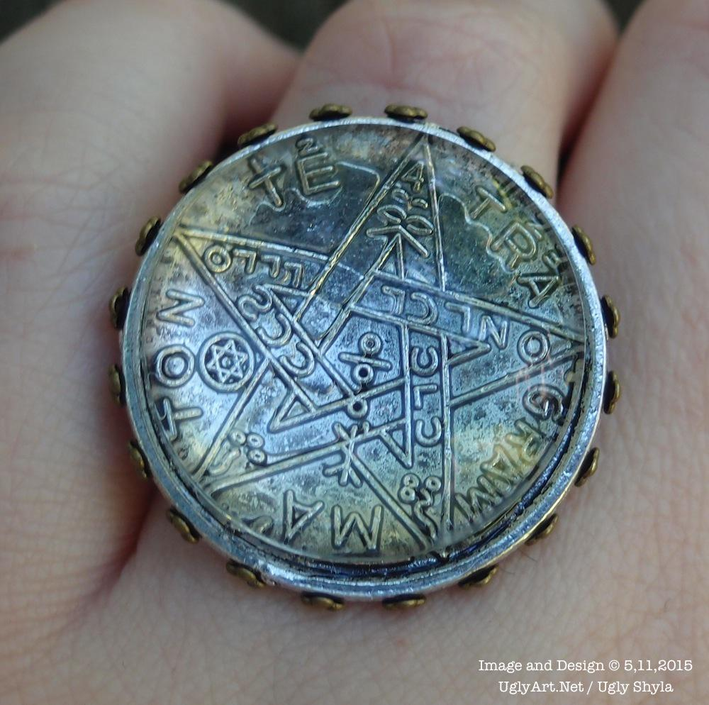Big Tetragrammaton #Talisman Glass Domed Witch Ring by Ugly Shyla #amulet Find it here  https://t.co/E7BiRDqDRz http://t.co/0pFRp9yOSY