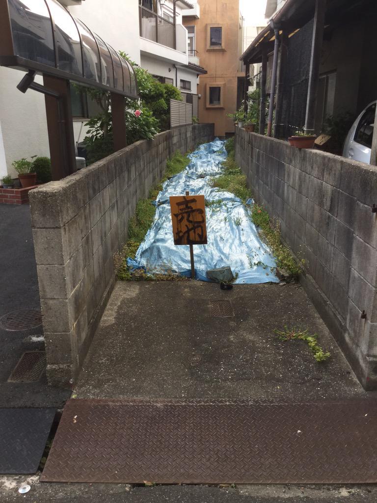 暗渠マニア待望の物件が川之江に出現しましたよ。 http://t.co/fP5vufvSeA