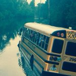 More pics of the DIberville High bus stuck in the BLX River off Lorraine. Everyones safe on dry land. @WLOX http://t.co/e4QXrhcaYv