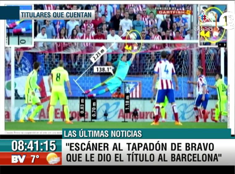 #Bienvenidos13 (@Bienvenidos13): ⚽️ Seco @C1audioBravo… Felicitaciones por tu campeonato con el Barça! Lo repasamos AHORA en #Bienvenidos13 http://t.co/XROrUY7rBE