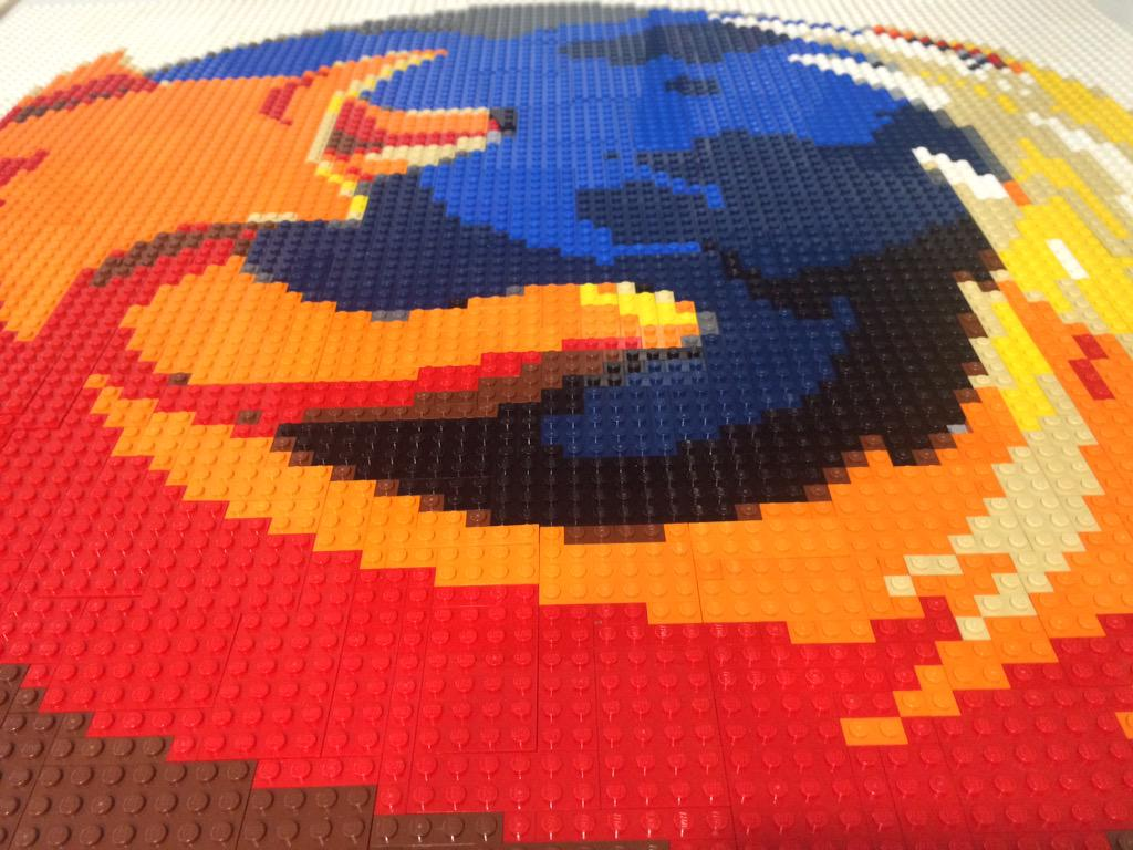 [Mission Completed] Firefox logo constructed using Lego bricks. Come check it out @MozLDN... http://t.co/7oFLnWjTsR