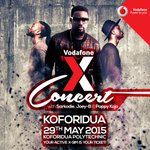 All roads lead to Koforidua Polytechnic Park! The biggest show in the East is about to begin. #VodafoneXConcert http://t.co/gjOMf7fYiR