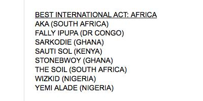 Yasssss!!! Only East African act nominated @BETAwards 2015 just before leaving for USA TOUR. Congrats @SautiSol