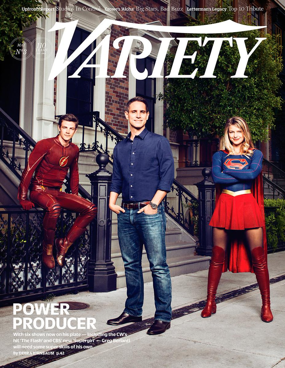 Six shows, one superproducer: This week's @Variety cover features @GBerlanti w/stars @grantgust & @MelissaBenoist. http://t.co/6HvKBzeh97