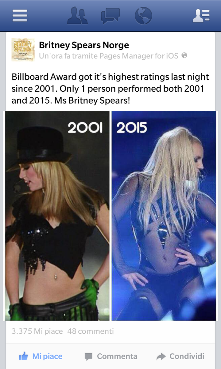 Billboard Awards 2015 got its highest ratings since 2001 Only 1 person performed both in 2001 & 2015: BRITNEY SPEARS http://t.co/ieHnnKyE9q