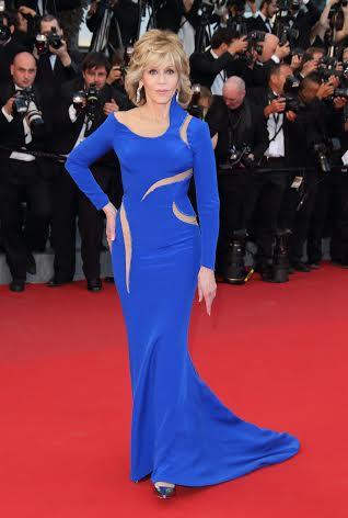 Vestido azul klein asimetrico