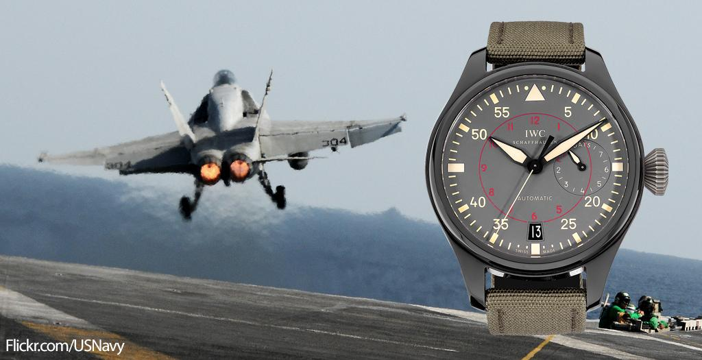 .@IWC's Big Pilot Top Gun Miramar is inspired by the iconic naval aviator school http://t.co/ZtI8KSWJar http://t.co/1oDLh44DEJ