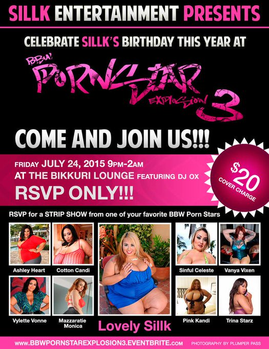 July 24 come party with Me & the sexiest BBWs at BBW Porn Star Explosion 3! #Orlando #bbw #pornstar #RSVP