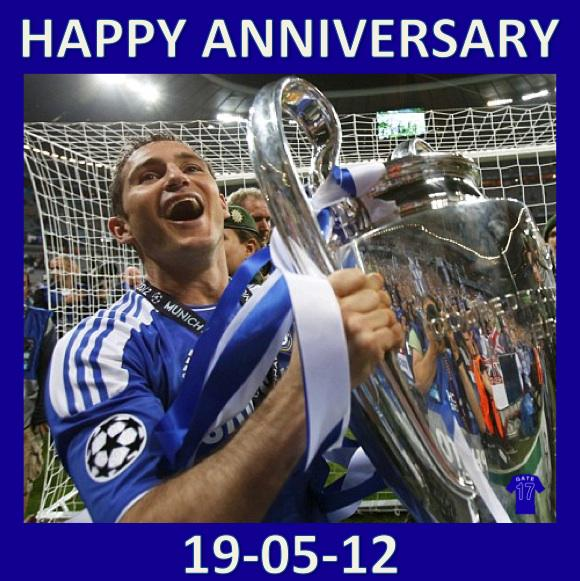 Their City, Their Stadium, Our Trophy. #Chelsea The only team in  London with the European Cup. Happy Anniversary! http://t.co/jFtnT1qFax
