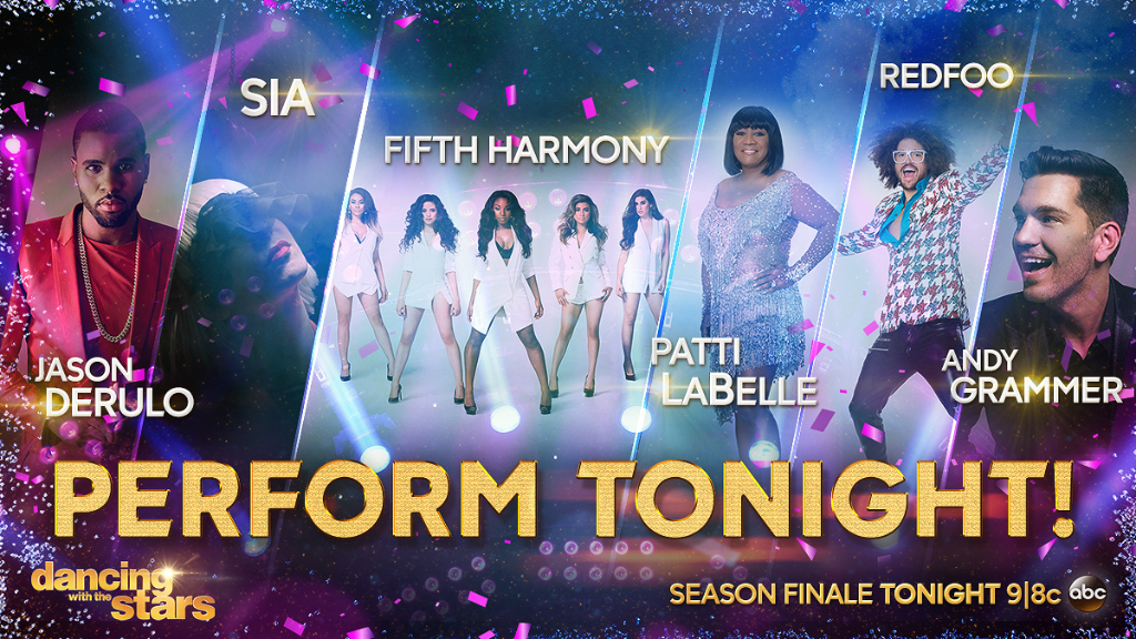 All of these artists will be performing on TONIGHT'S #DWTSfinale! Don't miss it. http://t.co/7E8bpGZqpa