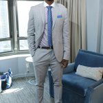 RT @wwd: .@MKG14 goes for a custom suit representing @hornets at #NBADraftLottery #NBAStyle  http://t.co/j3cMFTVJKN