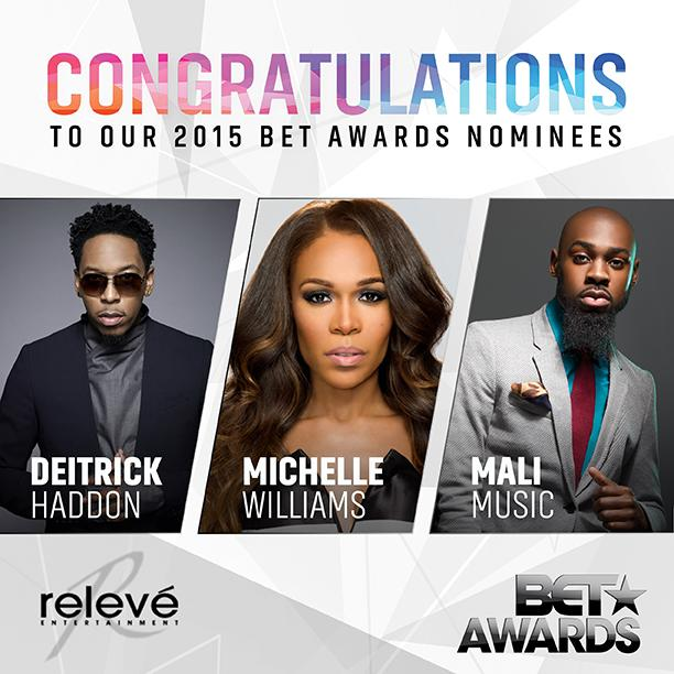 Relevé is proud 2 announce clients @realmichellew @malimusic @DeitrickHaddon This yrs #BET noms 4 #BestGospelArtists http://t.co/Fp83lQpq6F