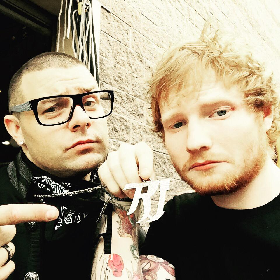 Hanging with my homie @edsheeran #backstage @OfficialBBMAs #BBMAs thx @billboard  ya he is holding my chain #rickyj http://t.co/Tfqv9ifh01