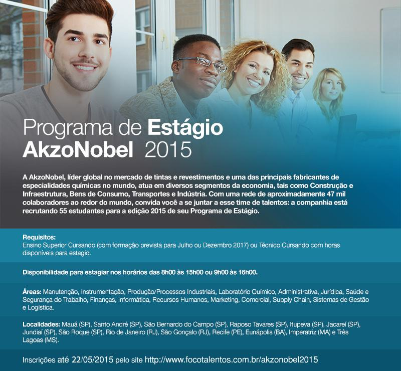 Programa de Estágio na #AkzoNobel Inscrições: http://t.co/Z7DL7ScGF5 #estagio #programadeestagio #talentos #carreiras http://t.co/EUGK1vcQEY