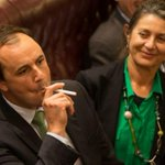 Greens MP Jeremy Buckingham vapes e-cigarette in NSW Parliament. http://t.co/vGmDvQeInv #nswpol http://t.co/x5pIv9PdjL