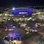 HOW awesome does @ANZStadium look all lit up in blue for #ORIGIN night?! #uptheblues http://t.co/frQOfUzIwS