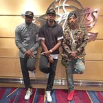 Stylin to the #NBAFinals, @KingJames @RealTristan13 @TheRealJRSmith! #NBAstyle http://t.co/C8xG68JRzV