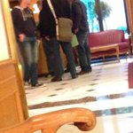 Picture of plainclothes Swiss police showing documents to FIFA hotel clerk: http://t.co/LVV8Ai9hxt