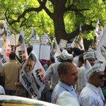 "#RIPअच्छेदिन Massive protest @ Jantar Mantar to mark 1st Death Anniversary of Indias ""Acche Din"" under Modi Sarkar http://t.co/rQUPVxRTjx"