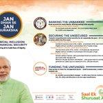 Jan Dhan to Jan Suraksha. #SaalEkShuruaatAnek http://t.co/UAh1X5KwB7