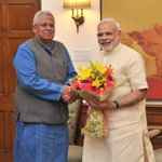 Governor of Tripura, Shri Tathagata Roy calling on @PMOIndia Shri @narendramodi http://t.co/gZ7aX07d3Y