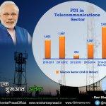 2014-15 saw highest FDI in telecom in last 5 yrs.Shows growing confidence of investors in India. #SaalEkShuruaatAnek http://t.co/G7cJhhLii8