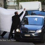 NYT: FIFA officials were escorted out behind sheets at the Baur au Lac hotel in Zurich http://t.co/ofB0Zb3chS http://t.co/QeFXn0xnRX
